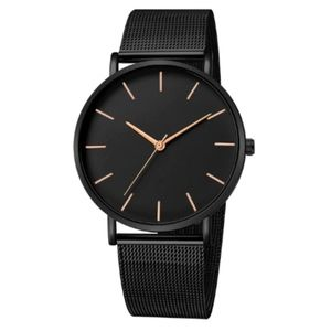 The Minimalist Watch | Black x Rose Gold Accents